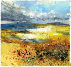 Can't get enough of his work -Sunshine, sand dunes, skylarks. Across Sanna Bay May 2009 - Kurt Jackson Landscape Artwork, Abstract Landscape Painting, Contemporary Landscape, Watercolor Landscape, Watercolor Art, Abstract Art, Kurt Jackson, Et Tattoo, St Just