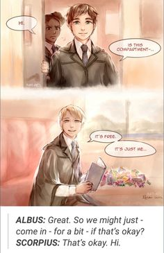 Harry Potter and The Cursed Child, Albus Potter, Scorpius Malfoy Harry Potter Comics, Fanart Harry Potter, Harry Potter Cursed Child, Harry Potter Ships, Harry Potter Books, Harry Potter Universal, Harry Potter World, Harry Potter Memes, Albus Severus Potter