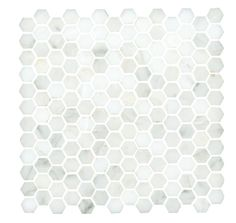 Lansdale Carrara Mosaic - traditional - bathroom tile - other metro - The Tile Shop Hexagon Mosaic Tile, Hex Tile, Penny Tile, Tiling, Subway Tile, Traditional Tile, Traditional Bathroom, Calacatta Gold Marble, Decoupage