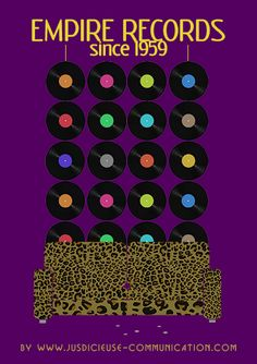 Affiche minimaliste de Empire Records de Allan Moyle, par Adeline, graphiste à Angers