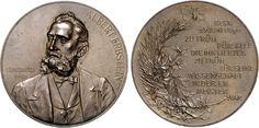 Erbstein, Albert (1840-1890), pubisher of the 'Blätter für Münzfreunde' and director of the coin  cabinet of Dresden; medal 1898 by Anton Scharff (see Grund NZ 2001 228)
