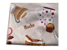 Decorate Your Coffee Themed Kitchen With This Tablecloth That Features  Coffee Cups, Coffee Beans, Coffee Pots, Cookies, And Candies.