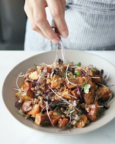 Roasted Sweet-Potato and Farro Salad Recipe