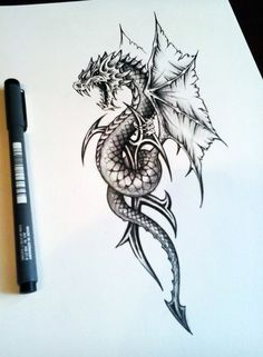 newest tattoo designs - This black and red