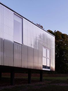 graal architecture, David Foessel · Nursery School Extension a Mantes-la-Ville Architecture Photo, Contemporary Architecture, Metal Cladding, Ville France, Nursery School, Corrugated Metal, Metal Buildings, Reading Room, Metal Homes
