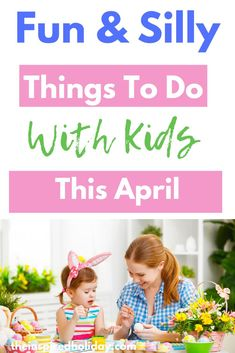 Find all the wacky and silly holidays to celebrate in April. This month has lots of unique holidays to celebrate all month long. Holidays In April, Silly Holidays, Holidays With Kids, Holidays And Events, Infant Activities, Fun Activities, Easter Activities, Mean Pranks, Easy Toddler Crafts