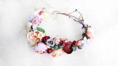 Spring Wedding Flower Crown, Boho Bridal Headband, Flower Girl Crown, Bridesmaid Headpiece, Floral Hair Wreath, Wedding Halo by LisaUaShop on Etsy https://www.etsy.com/listing/512119531/spring-wedding-flower-crown-boho-bridal