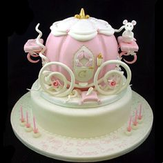 cinderella carriage cake - Olivia would adore this.