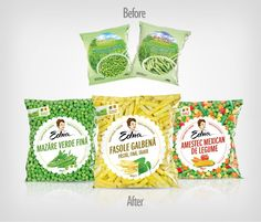 Edna Frozen Vegetables Redesigned on Packaging of the World - Creative Package Design Gallery