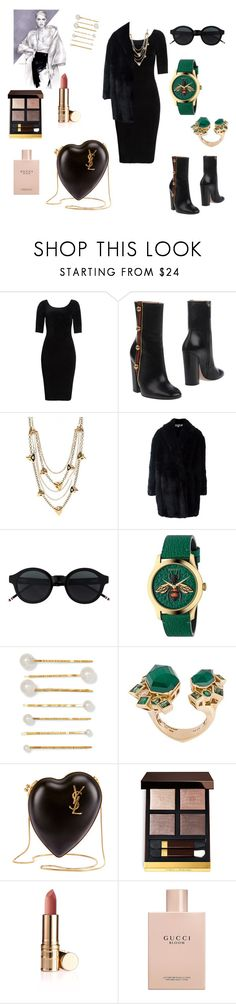 """""""Untitled #444"""" by gloriatovizi on Polyvore featuring Helmut Lang, Gucci, Louis Vuitton, McQ by Alexander McQueen, Jennifer Behr, Stephen Webster, Yves Saint Laurent and Tom Ford"""