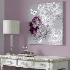 Looking for purple bedroom ideas? It's good, but a purple bedroom will be better when combined with other colors: white, blue and so on, as described here. Purple Bedrooms, Girls Bedroom, Bedroom Ideas Purple, Purple Master Bedroom, Purple Bedroom Design, Home Design, Country House Design, Design Design, Murs Violets