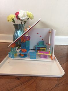 Cordy designed this room with the Roominate kit. Thanks for sharing your creativity Cordy! Thanks For Sharing, Creativity, Make It Yourself, Kit, Toys, How To Make, Design, Home Decor, Activity Toys