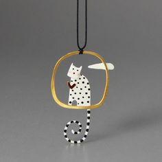 Love Cat Round ペンダント | Monoco #Kiss the frog #cat #pendant #jewelry