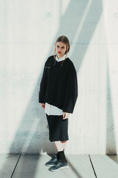 Black and white fashion Sneackers