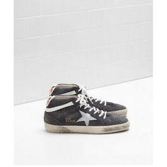 Acquistare 2017 Golden Goose Mid Star Scarpe GGDB Donna Sneaker Pelle Nero Bianco
