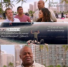 Steve McGarrett, Danny Williams, Junior Reigns, Tani Rey, and Lou Grover Magnum Pi, Scott Caan, Hawaii Five O, I Quit, Just For Laughs, Best Shows Ever, Funny Moments, Tv Series, Tv Shows