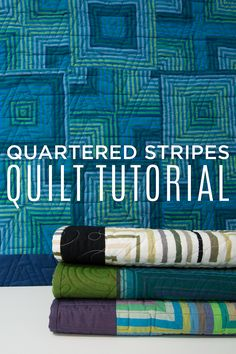 I'll never look at striped fabric the same again! Love this Quartered Stripes Quilt Tutorial on YouTube!