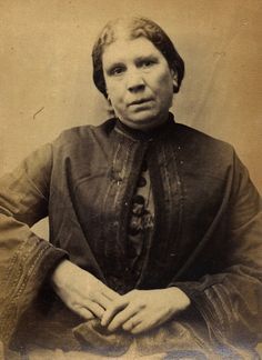 """Harriet Davison was convicted of stealing money on 27 March 1873 and was sentenced to 2 months hard labour.  Age (on discharge): 39 Height: 5' 3"""" Hair: Dark brown Eyes: Dark brown Place of Birth: Hull Status: Widow Occupation: Laundress  These photographs are of convicted criminals in Newcastle between 1871 - 1873.  Reference:TWAS: PR.NC/6/1/1212  (Copyright) We're happy for you to share this digital image within the spirit of The Commons. Please cite 'Tyne & Wear Archives & Museums' when…"""