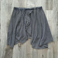 Brandy Melville Grey Sweater Skirt Slightly asymmetric grey sweater skirt from Brandy Melville, never worn! Brandy Melville Skirts