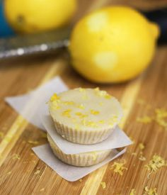 These Raw Lemon Meltaways taste decadent, but can be enjoyed guilt-free! This paleo and vegan-friendly treat is bursting with a tart lemon flavor. Raw Desserts, Paleo Dessert, Gluten Free Desserts, Dessert Recipes, Vegan Sweets, Healthy Desserts, Delicious Desserts, Yummy Treats, Sweet Treats
