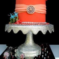 Swarovski embellished cake stand by crystalcouture.com.au
