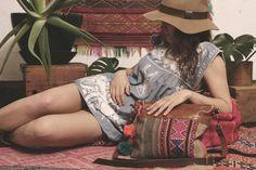 Peruvian boho crossbody style leather fringe bag from Grace Design