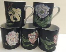 Tiffany & Co Mrs.Delany's Sybil Connolly Botanical Flower 5 mugs Coffee Tea Cups