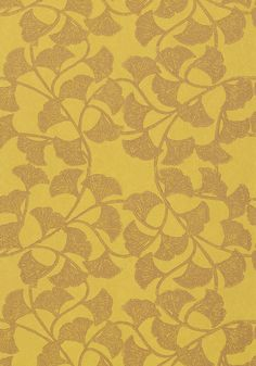GINKGO, Citron, T718, Collection Artisan from Thibaut