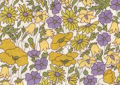 LIBERTY Liberty print · Milling cloth (Eternal) domestic standard classic rib jersey <Poppy & Daisy> (Poppies & Daisies) 3632104ZF