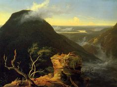 "Thomas Cole, ""Sunny Morning on the Hudson River"" (1827) (via wikiart.org)"