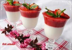 Grecki deser z musem truskawkowym♥♥♥
