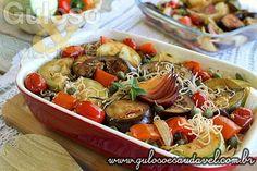 Receita de Salada de Bifum com Legumes Assados