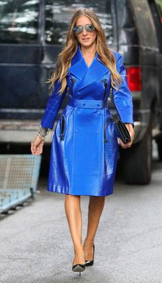 Sarah Jessica Parker Is Feeling Blue In New York
