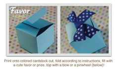 DIY baby shower favor boxes with cute ribbon!