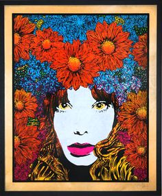 """Chuck Sperry """"Mind Spring"""" (Silver) FRAMED 2011 Print Hand-Pulled 6 Color Silkscreen on Birch Panel 36 x 44 inches Edition of 3 Framed Signed and Numbered"""
