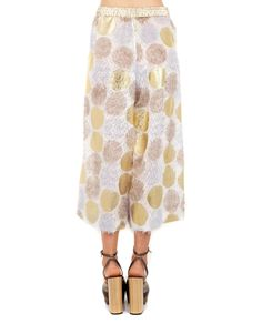 ANTONIO MARRAS 3/4 LENGTH TROUSERS S/S 2016 Multicolor 3/4 length trousers drawstring waist wide legs high waist 85% SE 8% VI 7% PA