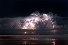 Lightning over Ormond, Florida