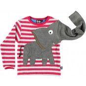 Rosa babygenser med applikert elefant