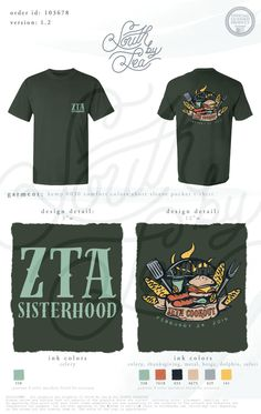 ZTA | Zeta Tau Alpha | Zeta Cookout | ZTA Sisterhood | South by Sea | Greek Tee…