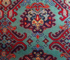 Moquette de laine tissée à dessin traditionnel de style Haussmannien - Second Empire - Harmonie verte en 3.66cm de large