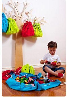 Como hacer el bolso organizador juguetero (alfombra guarda juguetes)