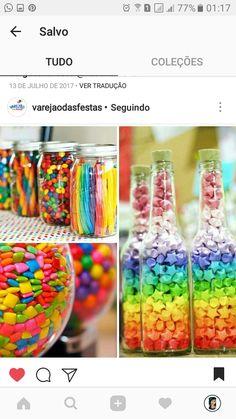 Unicorn Birthday Parties, Birthday Ideas, Rainbow Unicorn, Ideas Para, Kendall, Sprinkles, Baby Shower, Candy, Food