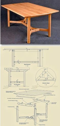 Hayrake Table Plans - Furniture Plans and Projects | WoodArchivist.com