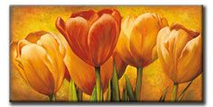 size: Stretched Canvas Print: Bouquet of Orange Tulips by David Pedersen : Using advanced technology, we print the image directly onto canvas, stretch it onto support bars, and finish it with hand-painted edges and a protective coating. Poster Prints, Art Prints, Art Moderne, Arte Floral, Painting Edges, Stretched Canvas Prints, Botanical Art, Flower Art, Find Art