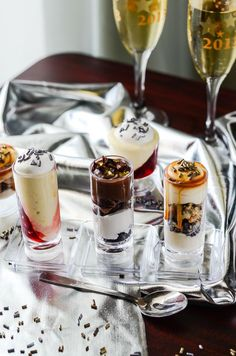 Classy, stylish, and adorable, this trio of dessert shooter recipes would be perfect for any party menu!