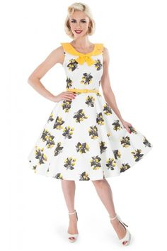 These are cute! Potential idea, have 2 bridesmaids in this and 2 in plain yellow.