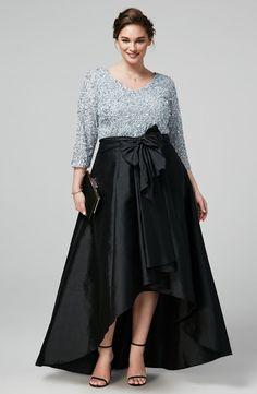 6057ec2167 Moda Estilo Y Distinción  Elegantes Vestidos de Fiesta para Gorditas 2019