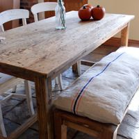 Large Rustic Refectory Dining Table - Mobius Living