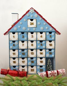 Wooden Advent Calendar  Painted by StardustKay on Etsy