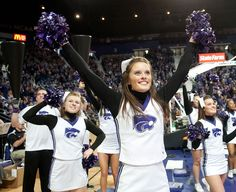 """Fight, you K-State Wildcats. For Alma Mater."" Copyright K-State Photo Services. State Of Kansas, Kansas State University, Kansas State Wildcats, Fight Fight, College Cheerleading, Alma Mater, Rowing, Track And Field, Athletics"